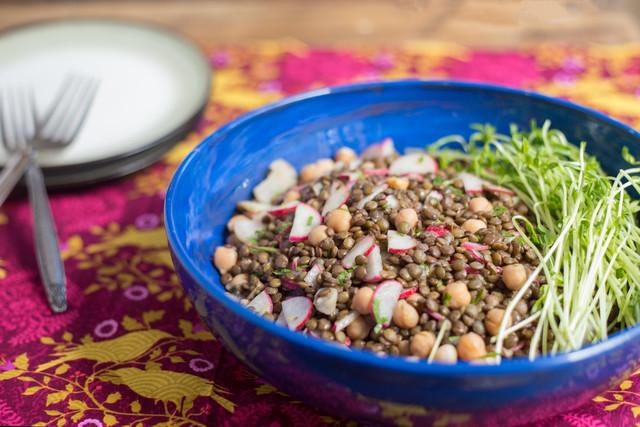 Lentil, Chickpea, and Mint Salad