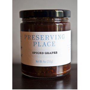 Preserving Place Spiced Grapes