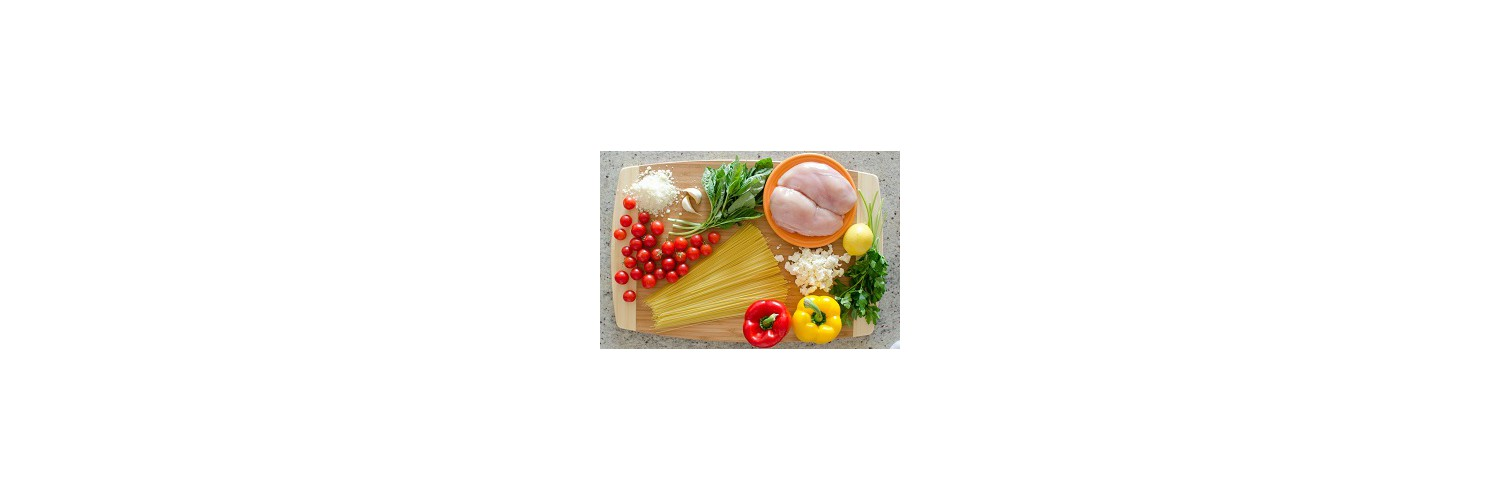 Sweet Pepper & Feta Salad – Rustic Stuffed Chicken & Burst Tomato Pasta – Oven-Roasted Plums & Shortbread