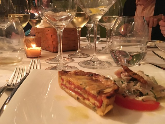 tomato pie served at the James beard house in summer 2016