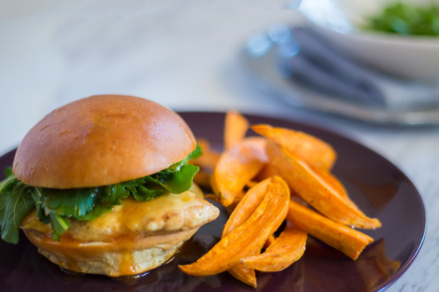 Tangy-Sweet Chicken Sandwich with Havarti