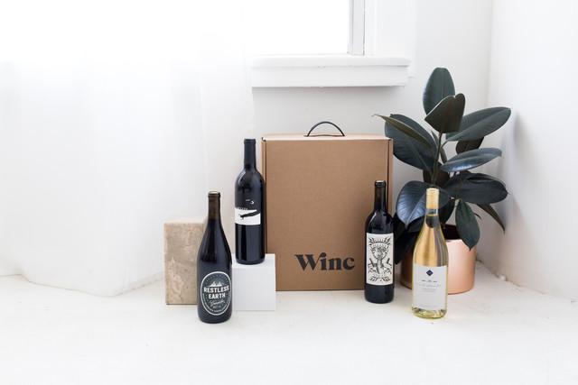 Winc wine bottles