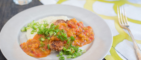 Doug Turbush's Catfish Étouffée with Parmesan Grits