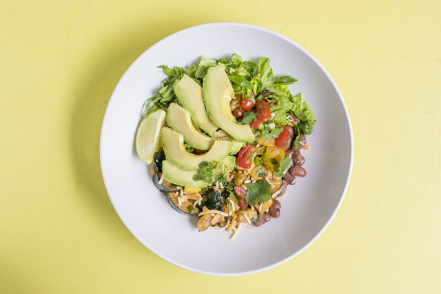 Veggie Burrito Bowl with Avocado & Pico de Gallo