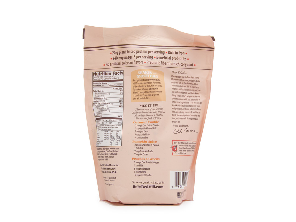 Bob's Red Mill Chai Nutritional Booster