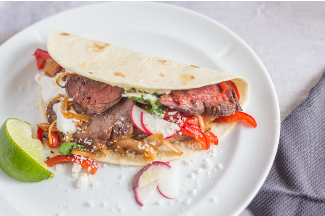Hanger Steak Fajita with Radish
