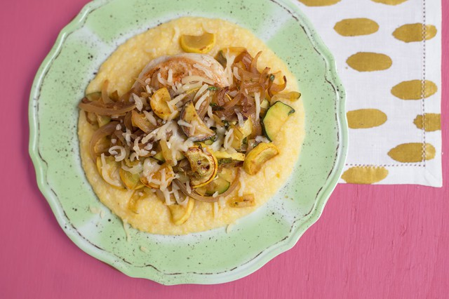 Chicken Fundido with Polenta and Squash