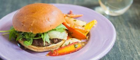 Beef & Mushroom 'Blended Burger' with Lemon-Glazed Root Vegetables