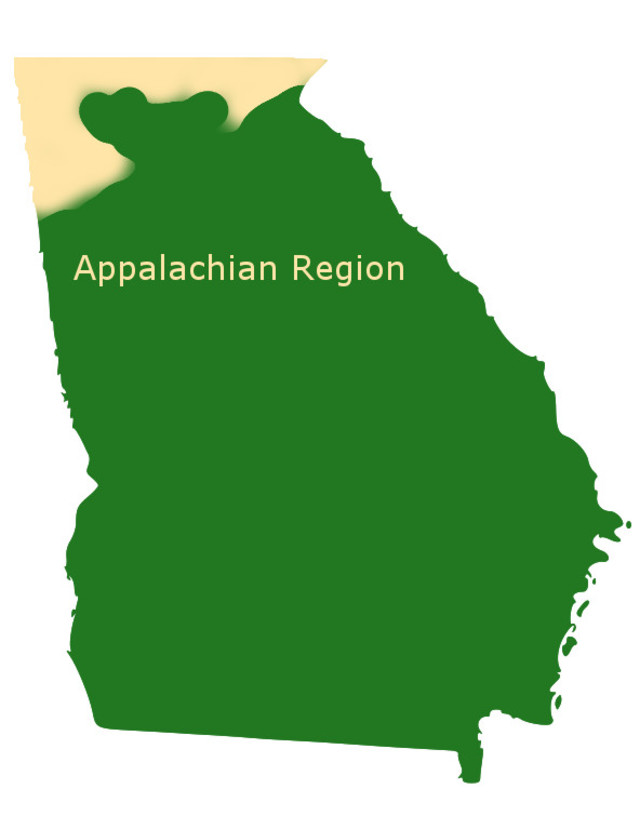 Appalachian region of Georgia