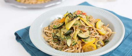 Whole Wheat Linguine with Summer Squash & Tomatoes