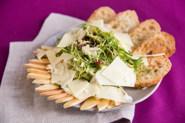Daniel Porubiansky's Frisee Salad with Apple & Bacon Vinaigrette
