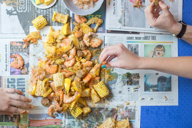 Whitney Otawka's Low Country Boil with Smoked Paprika Butter