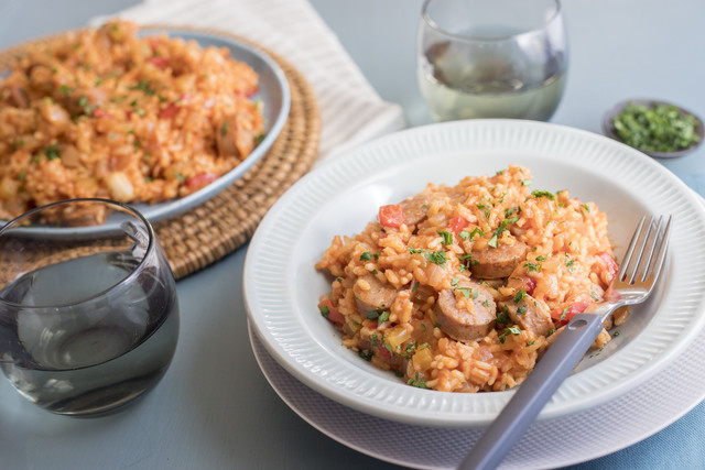 Lowcountry Red Rice with Smoked Chicken Sausage