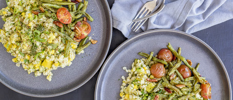SuperFood Barley Bowl with Snap Beans, Corn & Tomatoes