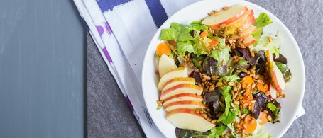 SuperFood Fall Salad with Apple, Carrot & Pickled Fennel