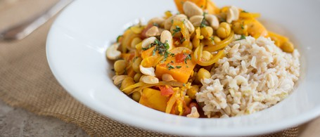 Sweet Potato & Chickpea Curry with Brown Basmati Rice
