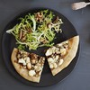 Fig, Blue Cheese & Chevre Pizza with Curly Endive Salad