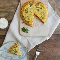 Weekend Breakfast: Sweet Pepper, Parmesan and Goose Egg Frittata