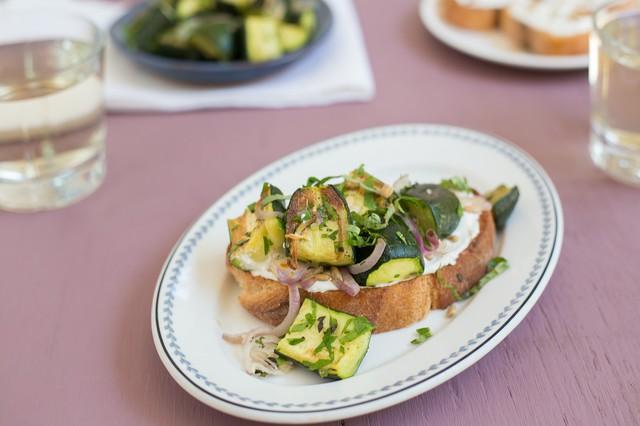 Roasted Zucchini Tartine